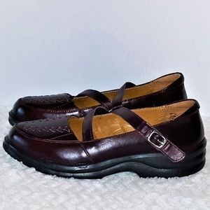 DR. COMFORT Burgandy Mary Janes-6M